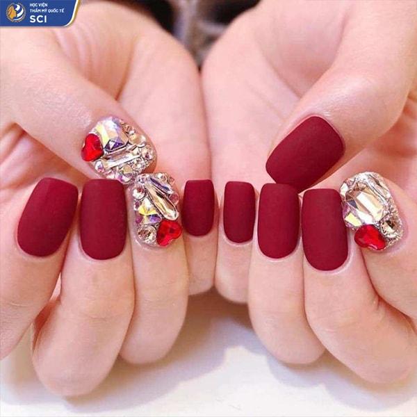 mẫu nail lì - hoidapnails.com