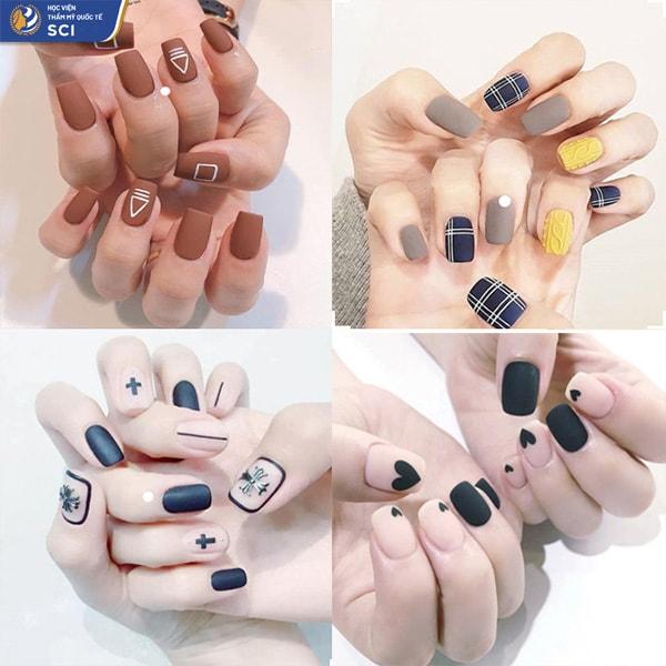 Mẫu nail đẹp sơn lì - hoidapnails.com