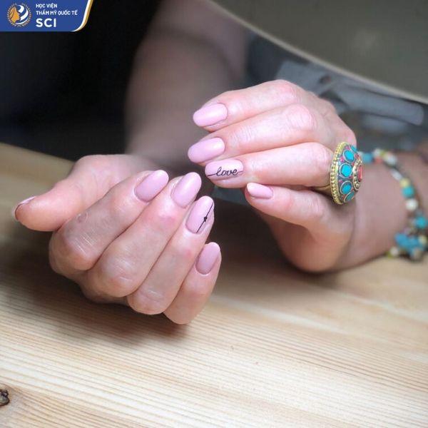 mẫu nail đẹp đơn giản cho học sinh - hoidapnails.com