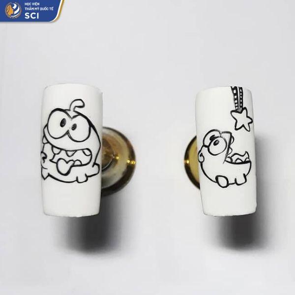 mẫu sơn móng tay đẹp cho học sinh - hoidapnails.com