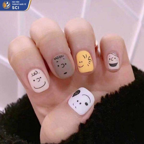 nail đơn giản cho học sinh - hoidapnails.com