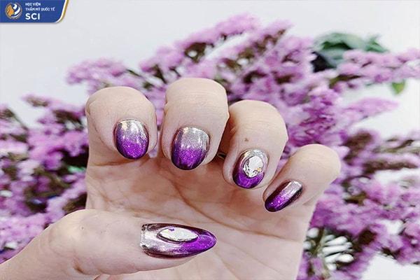 Mẫu nail omber - hoidapnails.com