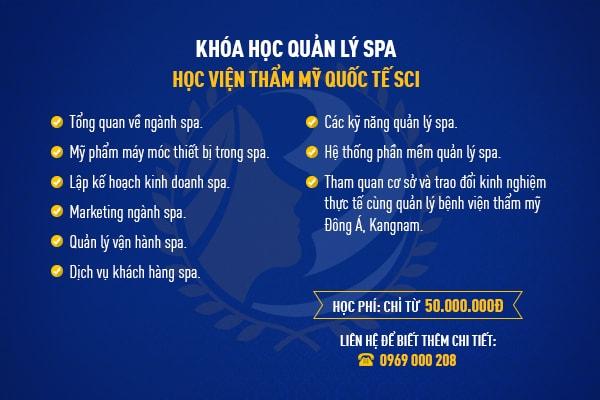 Khóa học quản lý spa  - hoidapnails.com