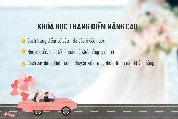 Khóa học trang điểm cô dâu nâng cao - hoidapnails.com