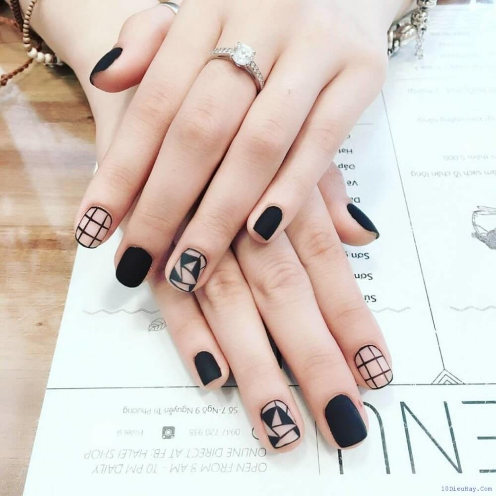 kiểu nail đơn giản đẹp - hoidapnails.com