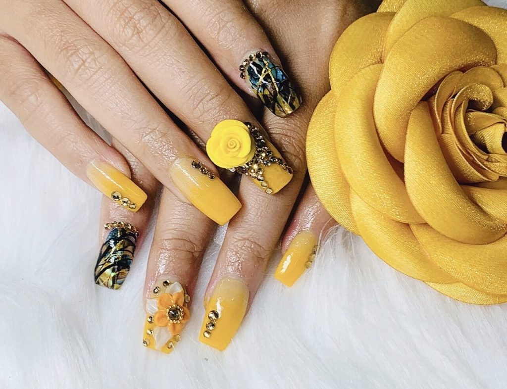 những kiểu nail đẹp đơn giản - hoidapnails.com