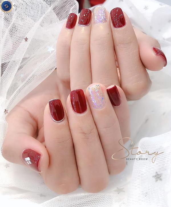 Đón tết không thể thiếu những bộ nail đỏ rực rỡ - hoidapnails.com