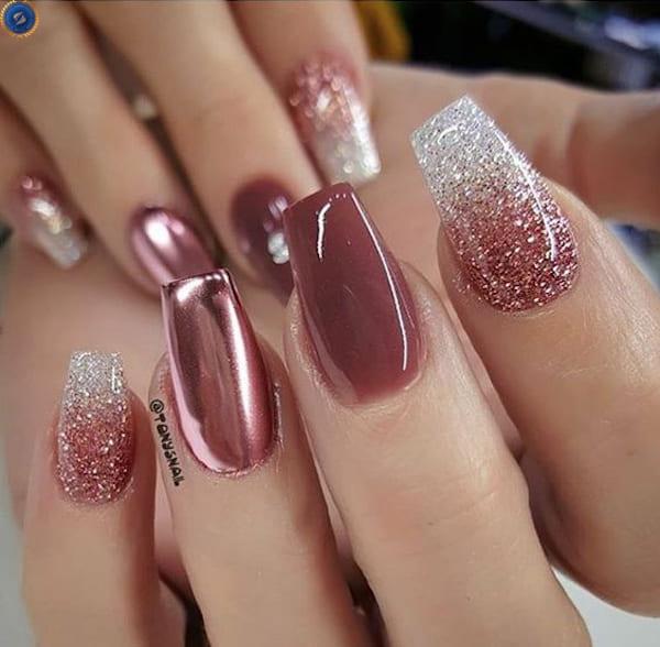 Đôi bàn tay bạn sẽ bừng sáng với mẫu nail lung linh này - hoidapnails.com