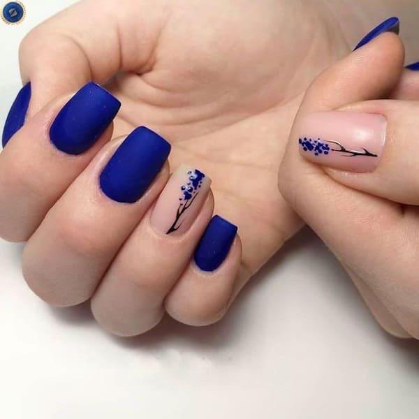 Bắt trend màu classic blue của năm này với bộ nail này nhé - hoidapnails.com
