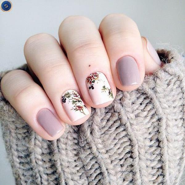 Mẫu nail hoa dành cho cô nàng thích sự nhẹ nhàng tinh tế - hoidapnails.com