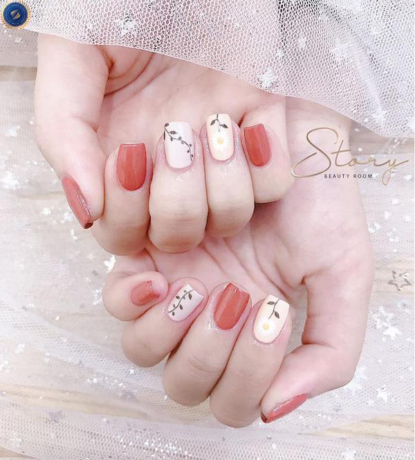 Mẫu nail ngọt ngào cho các bạn nữ diện Tết - hoidapnails.com