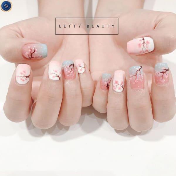 Mẫu nail tết dành cho những cô nàng nữ tính - hoidapnails.com