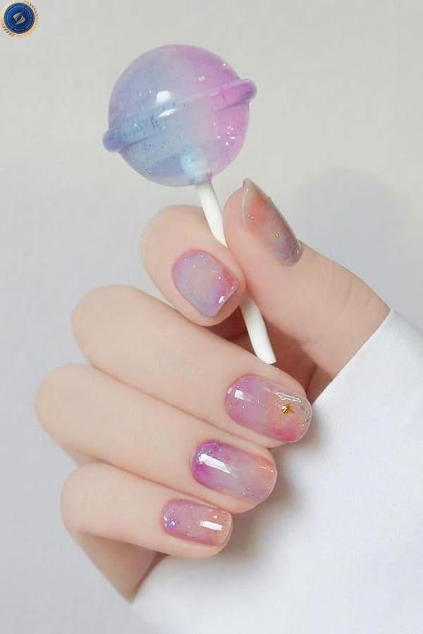 Mẫu nail mermaid lạ mắt - hoidapnails.com