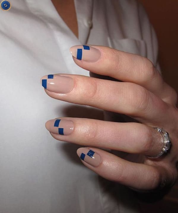 Mẫu nail dành cho cô nàng thích sự đơn giản - hoidapnails.com